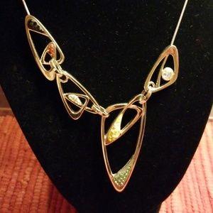 Swarovski abstract necklace